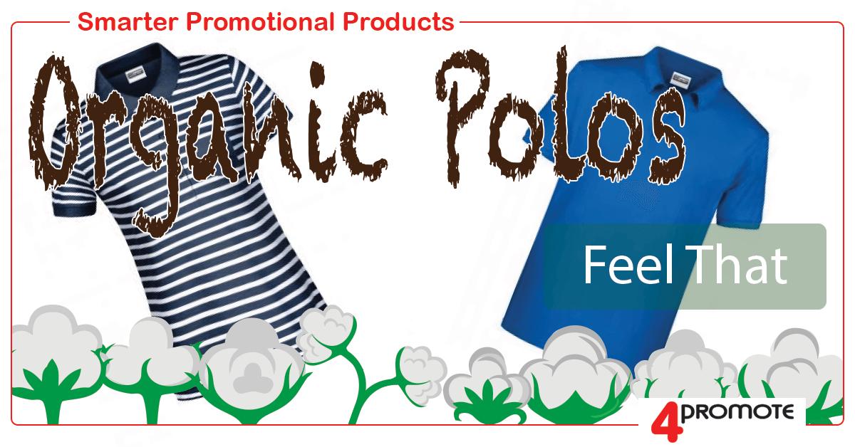 Organic Polos for custom branding