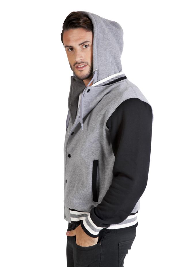 hoodie varsity jacket