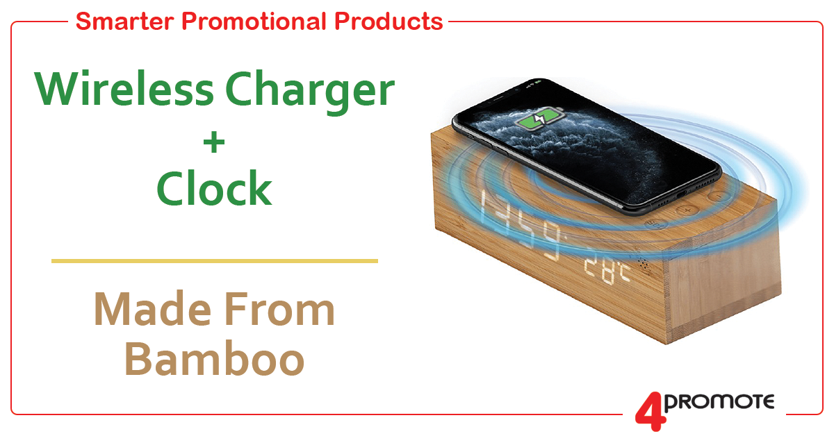 Wiress Charger with Clock