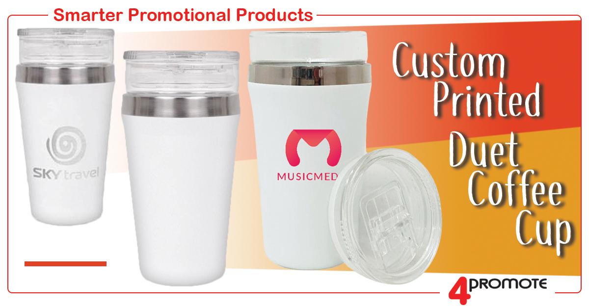 Duet Custom Printed Coffee Cup